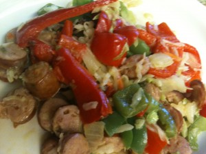 Sausage and Cabbage Stir Fry P3