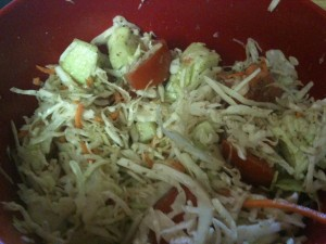 Coleslaw with Flaxseed for P3