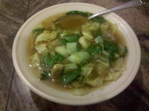 Cabbage Soup with Spinach P3