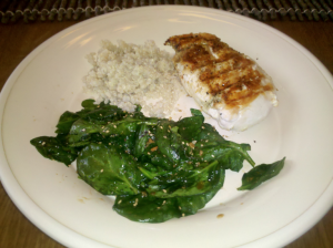 Easy Sauteed Spinach